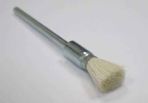 White Bristle Pencil Brush