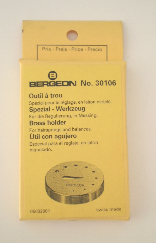 Bergeon No. 30106 Holder for Hairsprings & Balances