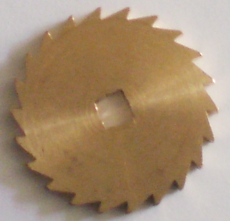 Ratchet Wheel Brass 18mm